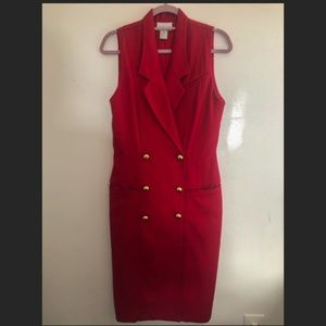 Vintage Nordstrom Red Suit Dress